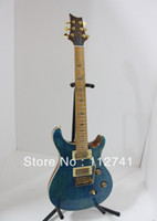 Wholesale Top Musical instruments New Arrival Bule Electric Guitar Maple Fingerboard HOT A552