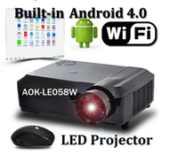 Wholesale WiFi LED Projectror Video Full HD P Multimedia Beam Projector Portable Home Theatre Projectors