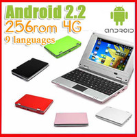 Wholesale Cheap notebook laptops wifi Google Android colorful quot VIA retail package