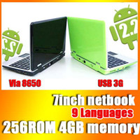Google Android 2. 2 wifi HD mini laptop colorful 256 4G 7&quo...