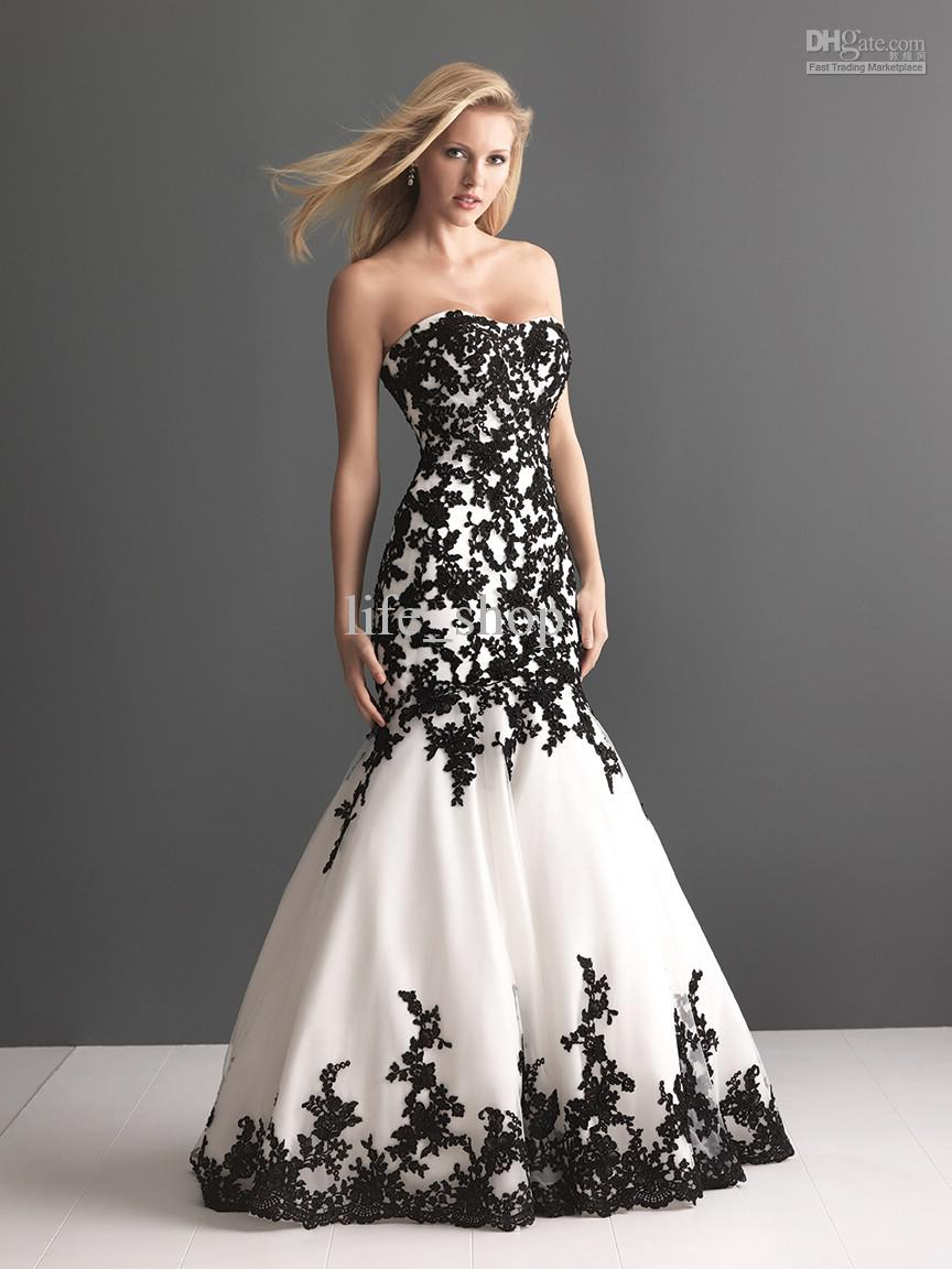 Black And Wedding Dresses 1 Stunning  dhresource albu x