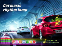 Wholesale 1 beautifully packaged H quality cm Car Stickers Sound equalizer Activated glow light