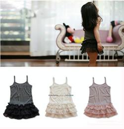 Wholesale 2016 Baby girl ruffle lace tank tops Kids girl vest singlet strap dress tops panelled chiffon tutu children s clothes