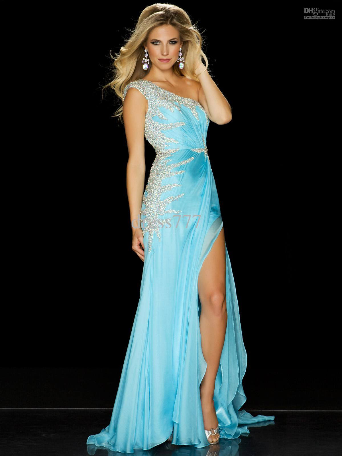 Wholesale - 2013 No Choice Unique Miss Outstanding Teen One Shoulder Embellished Pageant Dress ...