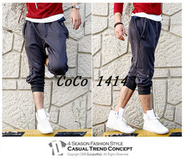 Wholesale Korea Capri Shorts Spring Autumn Cotton Stylish Casual Loose Men s Drawstring Beach Capri Shipping