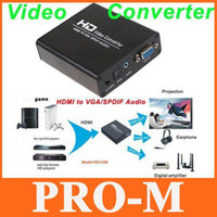 Wholesale Full HD Video Converter HDMI to VGA SPDIF Audio HD Video Adapter Converter