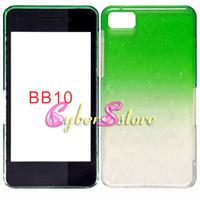 Wholesale 50pcs New Crystal gradient Rain drop Raindrop Hard Back Case Cover For BlackBerry Z10 BB