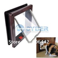 Wholesale Holiday Sale Big Discount Pet Supplies Way Pet Cat Dog Flap Door Lock Safe Lockable Small Free S