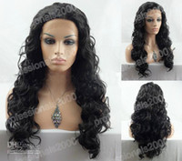 Wholesale Best Seller quot quot Lace Front synthetic Heat Friendly Wigs women hair wig wave B