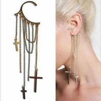 Wholesale 2013 Hot The Cross Chain Ear Tassels Wrap Non Pierced Cuff Earring Punk