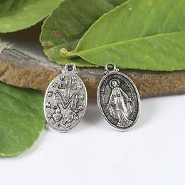 24pcs tibetan silver color RELIGIOUS portrait design Material:Zinc Alloy Metal(lead free) pendant charm H1040