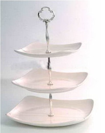 Wholesale New arrive piece Cake Stand Fittings Tier Cake Stands Centre Handle christmas gift