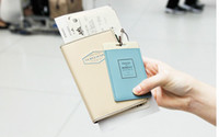 PVC Passport Cover Holder with Luggage Name Tag in retail bo...