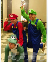 Wholesale 160 CM Adult Super Mario Luigi Mascot Costume Fancy Party Cosplay Halloween costume