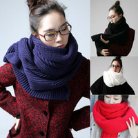 Wholesale New Women Men Unisex Knit Wool Pashmina Soft Warm Winter Shawl Scarf