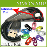 Wholesale V8 micro usb data sync charger cable cord FT M for SAMSUNG Galaxy Note N9000 i9300 i9100 s1 Blackberry HTC color Charging Colorful