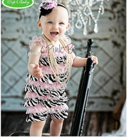 Halloween petti rompers - NEW Rompers Girls Fashion lace bodysuits infants one piece kids Petti Rompers wears colors cldzsz
