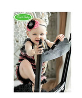 Wholesale TOP BABY Romper Lace Girls Petti Bubble Rompers infant bodysuits Jumpsuit size COLOR cldzsz