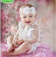 Wholesale TOP BABY Rompers Infant Patten Lace Petti Rompers Girls bodysuits kids jumpsuit wear size cld
