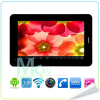 Wholesale 7 quot Android tablet pc Allwinner A13 Ghz GB GSM G Phone Call Dual Camera WIFI