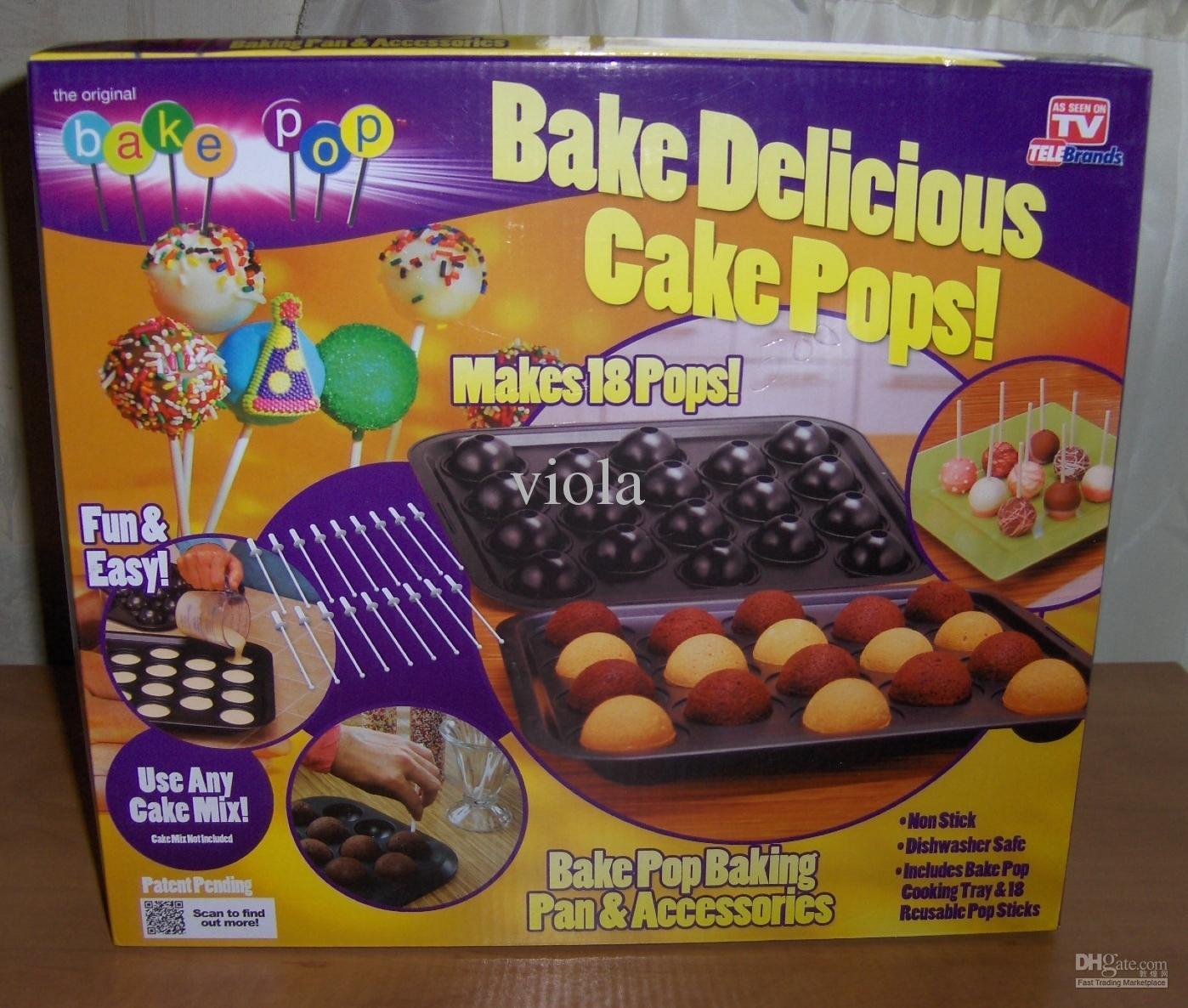 Cheap 120sets Hot Bake Bake Delicious Cake Pops Baking Pan Maker Kit 18 Pops Accessories