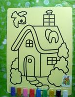 Wholesale pc multitype for choose with color sand Children DIY sand art cm cm DIY s