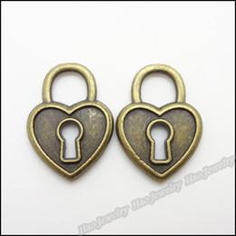 Vintage Charms Lock Pendant Antique bronze Fit Bracelets Necklace DIY Jewelry Findings 140pcs