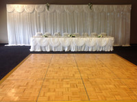 Wholesale white m m shine knit backdrop with swag