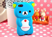 Wholesale Soft silicone D Rilakkuma Bear Panda Case Cover Skin full body protector for iphone G