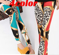 Skinny,Slim Women Print Leggings Fashion leggins!4colors Lady's Candy Colors Leopard Leggings Tight Pencil Skinny Pants