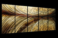 Wholesale Modern contemporary abstract painting metal wall art sculpture wall hanging decor A00130 Mystery