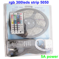 Wholesale 5050 RGB Flexible LED Strip Light led m M SMD waterproof V KEYS IR Controller A Power set