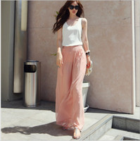 Cheap Women Chiffon Skirt Best Wide Leg Long pants