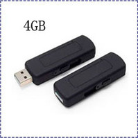 Wholesale UR09 GB USB disk Voice activated audio recorder spy camera u disk voice recorder