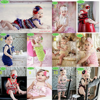 Wholesale 12pcs Toddler Baby Girl Lace Posh Petti Ruffle Rompers Infant Child One Piece TuTu Lace Clothes