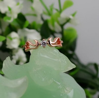 Wholesale Rose Gold The Diamond Real Yatsurugi Eight Heart Titanium Ring