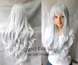 Wholesale COSPLAY new silver white long curly wig