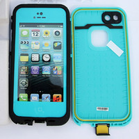 Wholesale Waterproof case for iphone Water Proof Snow Dirt Shock Proof Cases Retail Package Colors Gift