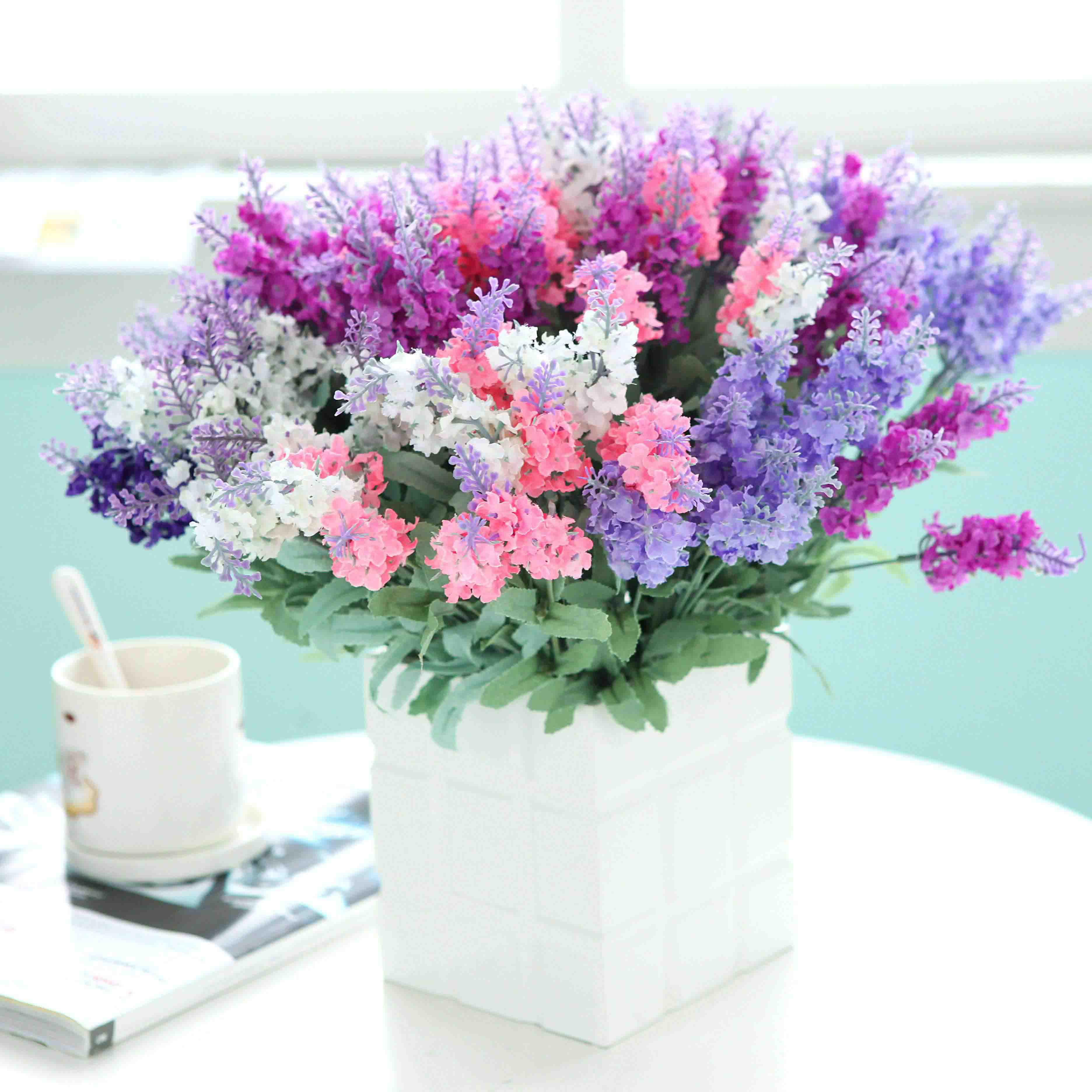Flower Pots With Artificial Flowers Artificial Flower Lavender Artificial Flower