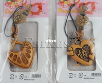 Wholesale Unique Handicraft Ethnic Carved Wooden decorations phone Hanging Ornament Christmas De