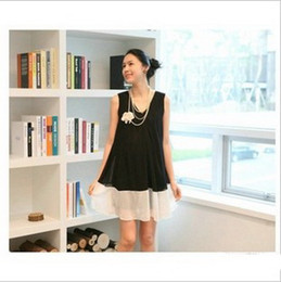 Wholesale 2013 New Summer Fashion Chiffon Short sleeve Maternity Dress Pregnant women Tank Dress M405