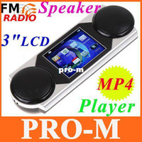 Wholesale Micro SD TF USB Mini Stereo MP3 Speaker quot LCD MP4 Video Player FM Radio Record Music Player Free