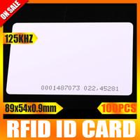 Wholesale 100Pcs EM ID KHz Thickness mm Smart Card Access Card RFID Card Khz Card