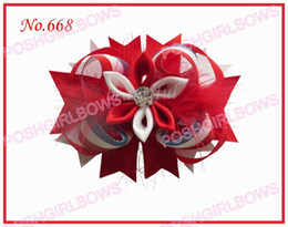 free shipping 30pcs mix color 4.5 Inch feather romantic hair bows clip girl baby feather hair clips