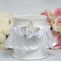 Handmade Flowers adjustable garters - Satin and Organza Rose Wedding Garter Handmade Flower Leaves Adjustable White Bridal Wedding Garters