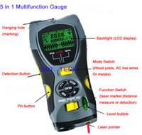 Wholesale 5 in Multifunction Gauge Distance Meter Wood Stud Metal Voltage Detector Laser Marker SK109