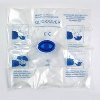 Wholesale Freeshiping Mouth To Mouth Resuscitation Device QUICKSAVER First Aid Kit PSK EDS MUST Tools50pcs