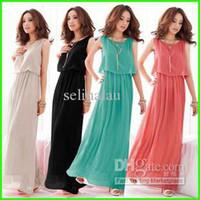 Wholesale 2013 Long Chiffon Dress Summer Maternity Dresses Women Beach Dresses