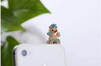 al por mayor tapones coreano-PA03_ Plug del polvo del teléfono del caniche 2013 versión coreana de la manera de los accesorios del teléfono móvil del Rhinestone