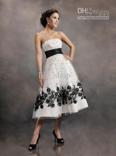Tea length cocktail dresses for weddings dress online uk for Black tea length wedding dress